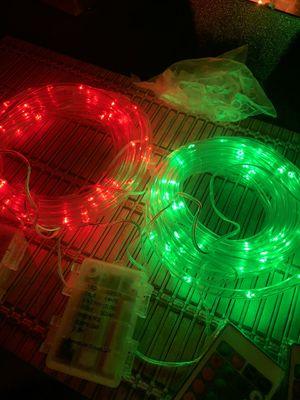 Outdoor 2 rope multi colors lights 13 feet each rope for Sale in Lynwood, CA