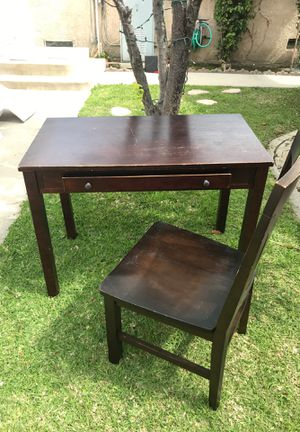 Cherry wood desk and chair Free for Sale in Downey, CA