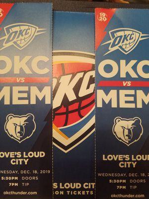 Thunder vs Memphis tonight at 7 for Sale in Oklahoma City, OK