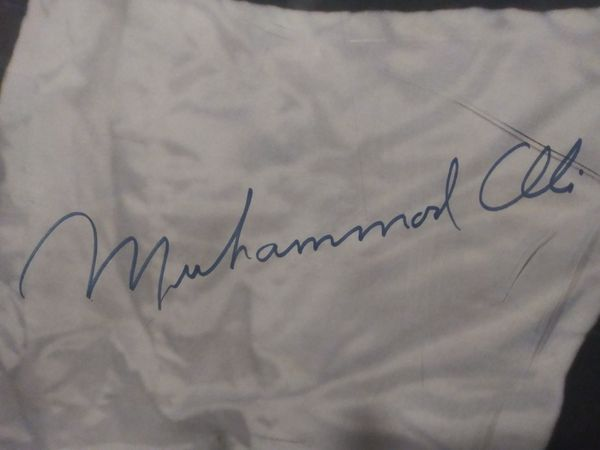 Autographed Life Sized Framed Poster of Muhammad Ali
