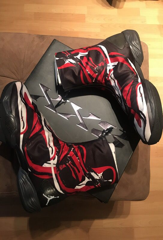 Brand New Size 13 Air Jordan XX8 (28) black/red/white