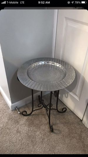 Silver alligator print Entryway table / platter / plant stand for Sale in Arlington, VA
