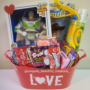 Boys Toy Story Valentines Gift Basket for Sale in Baltimore, MD
