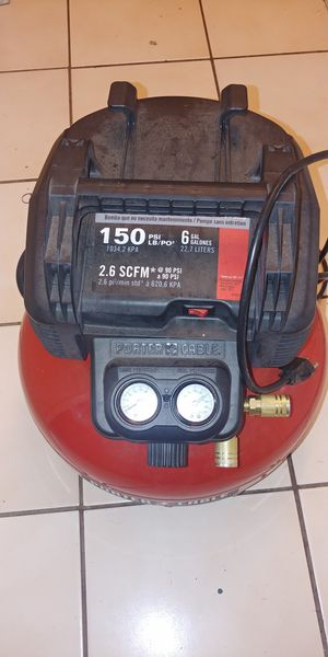 Porter cable air compressor 6gal for Sale in Ceres, CA