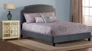 Full Size Grey Upholstered Bed. New In Boxes. Mattress Set NOT included. for Sale in Montgomery, AL