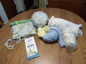 You finish baby blanket + extra yarn for Sale in Vista, CA
