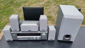 Kenwood Audio Video digital dts Dolby Digital Pro logic II surround sound receiver vr-715 ks207 vr715 ks-207 sw-07HT-S sw07HTS subwoofer Center for Sale in Glendale, AZ