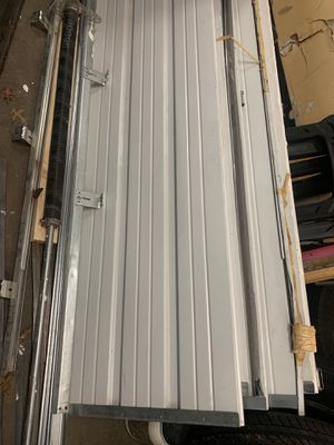 Garage door with springs white original cost 1200 for Sale in Fairfax, VA
