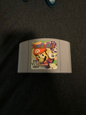 N64 Mario party video game for Sale in Fallbrook, CA