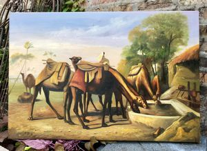 """24.5"""" x 30"""" camel print on canvas for Sale in Chicago, IL"""