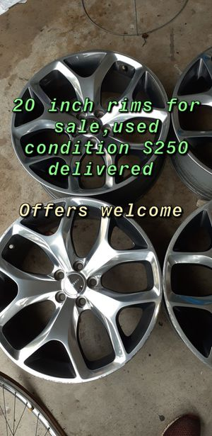 20 inch rims dodge challenger/charger for Sale in Mountain View, CA