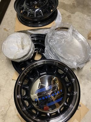 1930's-1950's 17 INCH ARTILLERY WHEELS RIMS CHEVY GMC TRUCK 6 LUG for Sale in Los Angeles, CA