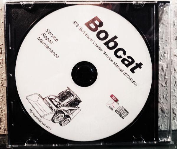 Bobcat Skid Steer Loader 873 Service Repair Manual CD