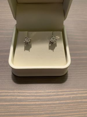 18234cf25b Radiant Reflections 1/4 ct tw diamonds sterling silver earrings. for Sale  in Howell
