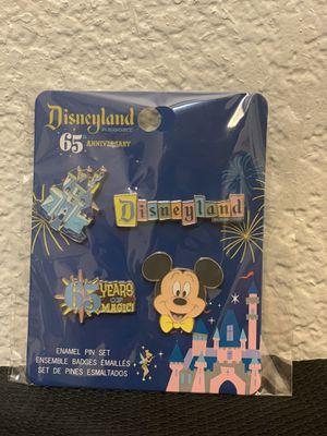 Disneyland Resort 65th Anniversary Enamel Pin Set Funko Pop Pins Exclusive for Sale in Rancho Cordova, CA