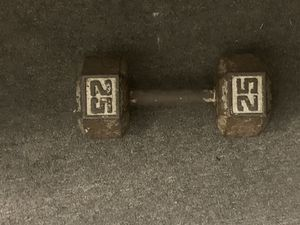 25 lb single dumbbell for Sale in Columbus, OH