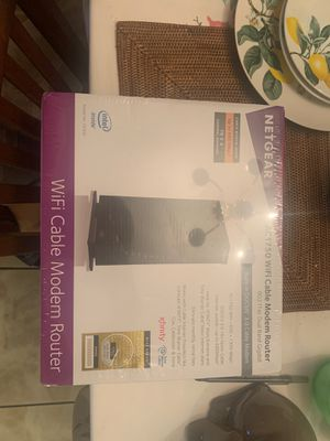 NETGEAR AC1750 (16x4) WiFi Cable Modem and Router Combo C6300, DOCSIS 3.0 for Sale in Los Angeles, CA