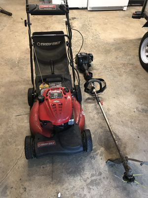 Troy Built lawn mower and weed whacker for Sale in Bremerton, WA