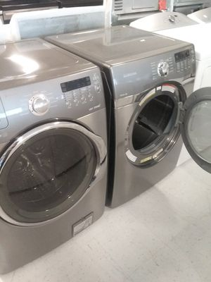 Samsung washer and gas dryer used good condition 90days warranty for Sale in Mount Rainier, MD