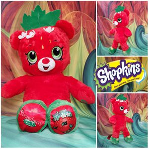 Build A Bear Shopkins Strawberry Kiss Retired 2017 Red Authentic BABW Plush for Sale in Hallettsville, TX