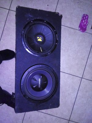 2 12 inch subs in a sealed box hits hard hear be4 u buy 80 bucks firm for Sale in Laveen Village, AZ