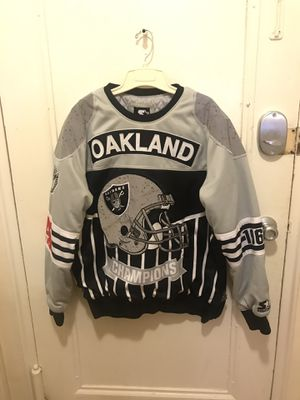 Men's Oakland raiders sweatshirt ~ very warm ~ large for Sale in Arlington, VA