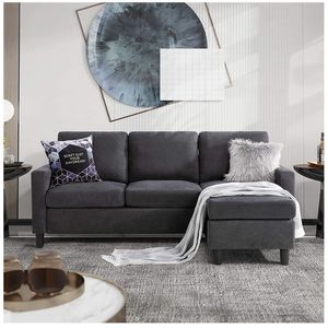 Corner Sofae for Small Space, L-Shaped Couch with Modern Linen Fabric for Sale in Chino, CA