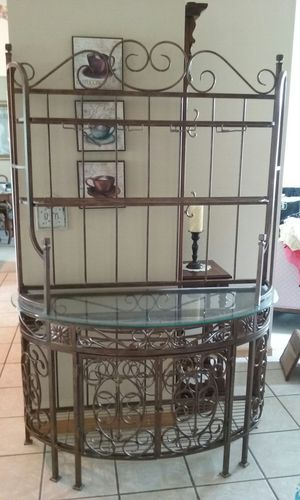 Wrought iron bakers rack for Sale in Woodbury, MN