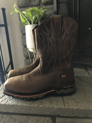 Brand new Timberland Pro AG Alloy toe work boots size 10 for Sale in Apple Valley, CA