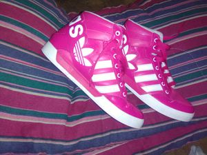 ADIDAS HOT PINK HIGH TOPS for Sale in Simpsonville, SC