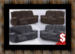 Grey or chocolate recliner set for Sale in Hyattsville, MD