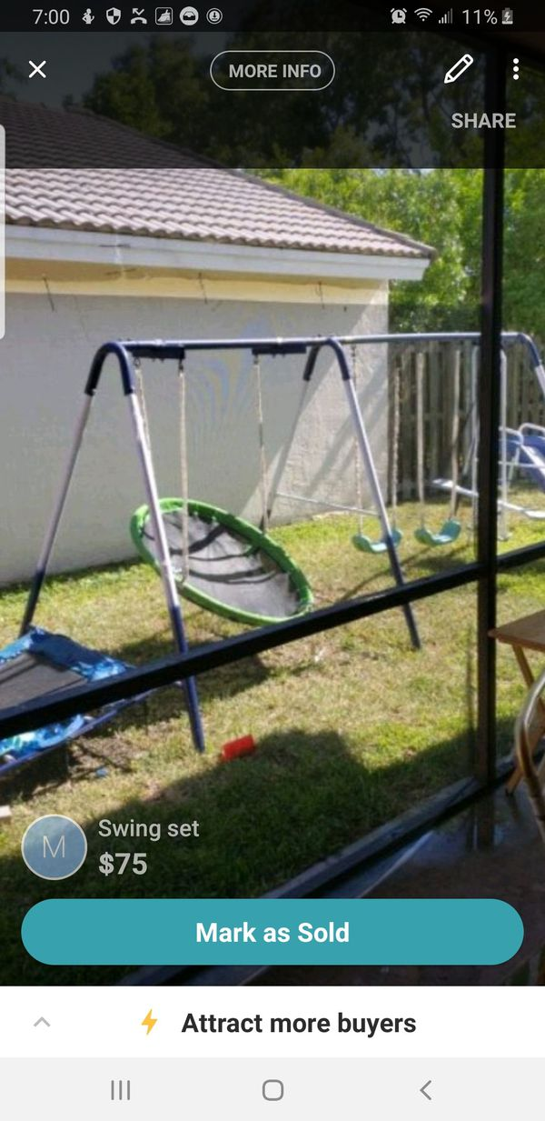 Swing set need to sell today. Taking offers