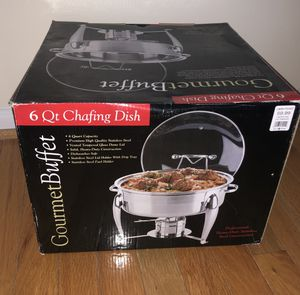6 Qt Stainless Steel Chafing Dish Gourmet Buffet for Sale in Fairfax, VA