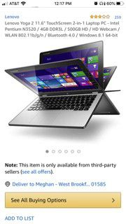 Lenovo Yoga 2. 64gb--4Ram for Sale in Ware, MA
