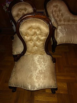 Antique made in Italy chair and couch expensive but will let it go for the low in moving process for Sale in Brooklyn, NY