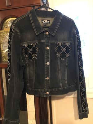 Platinum plush denim jacket size 2XL for Sale in Industry, CA