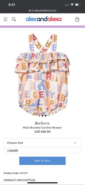 Burberry pink bubble romper for Sale in Perris, CA