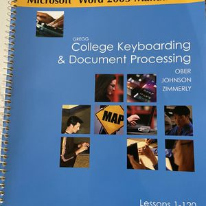 Curso para aprender a teclear sin mirar. Gregg College Keyboarding & Document Processing (GDP), Kit 1, 10 Edition, Lesson 1-60 Learn how to type. Cu for Sale in Miramar, FL