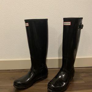 Black Tall Hunter Rain Boots for Sale in Seattle, WA