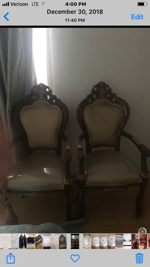 2 Antique Louis XV arm chair new upholstry for Sale in West Los Angeles, CA