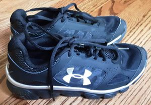 UA Micro G boys shoes size 4Y. for Sale in Northfield, OH