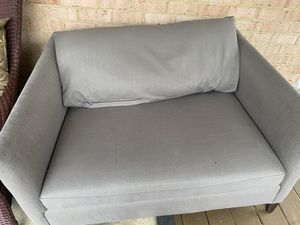 Crate and barrel arm chair and ottoman for Sale in Silver Spring, MD