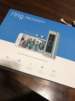 *NEW* Ring Doorbell Cam Pro $150!! NEW!!! for Sale in Smithton, PA