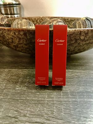 (2) Cartier Carat Eau De Parfum gift set Each bottle is 15ml 0.5FL OZ Valentines Day Special !!!!!!! A Total of 30 ml at a great price Authentic and for Sale in Carol City, FL