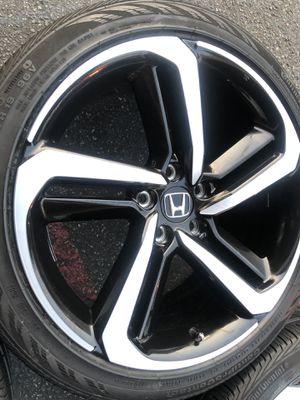 Rims tires 19x8,5 5x114.3 fit Honda Accord sport civic for Sale in Santa Ana, CA
