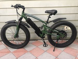 New FAST custom eBike, 1500w motor 54v lithium battery electric bicycle cruiser mountain bike downhill fat tire full suspension for Sale in Santa Ana, CA