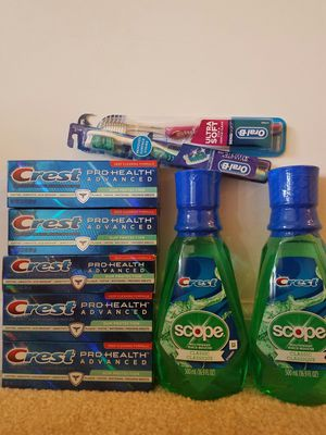 New Crest prohealth advanced toothpaste, mouthwash and toothbrush bundle lot - $20 for Sale in Rockville, MD