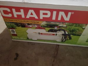 Chapin 97300E 15-Gallon 12v Deluxe Dripless EZ Mount ATV Spot Sprayer NEW IN BOX! WITH 2 RATCHET STRAPS NEW for Sale in Atwater, CA