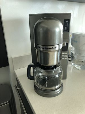 KitchenAid Coffee Maker 8 Cups Silver for Sale in Key Biscayne, FL