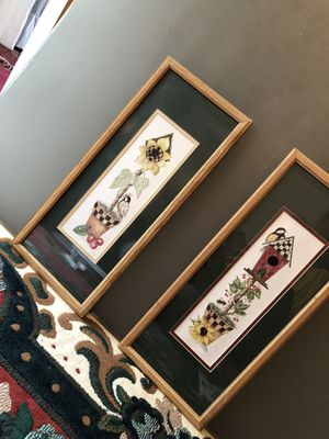 Wall art frames 2 pieces for Sale in Springfield, VA